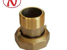 """Brass water meter coupling set - 1 1/2"""" /С - фото 1"""