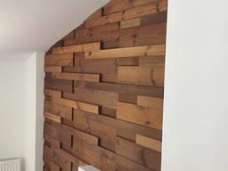 Декоративная 3Д мозаика из дерева