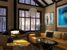 Дома выполненные из клееного бруса Карпатской ели (смереки)