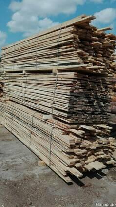 Доска обрезная 3 сорт 25*100 из хвойных и лиственных пород