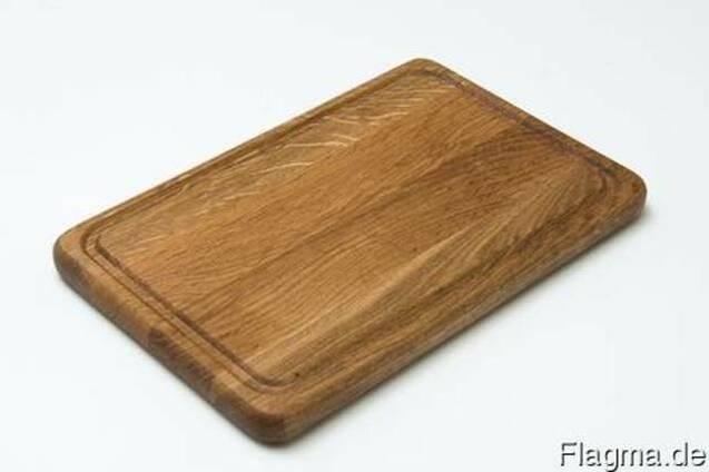 Доски разделочные, прямоугольные деревянные (дуб/ясень).