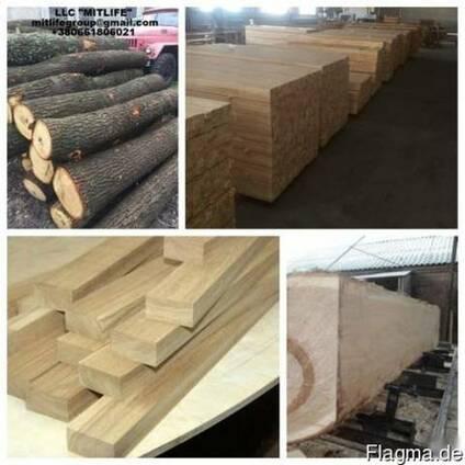 Дубовая Обрезная доска oak board LLC Mitlife