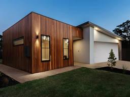 Frame-panel house kit
