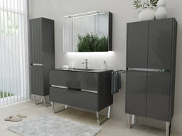 Furniture set, cabinet, sink, mirror