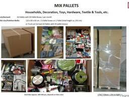 Микс бытовых товаров, микс палеты, микс картон