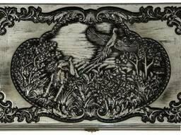 Нарды «Охота на Фазана» резные деревянные