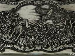 Нарды «Охота на Фазана» резные деревянные - фото 3