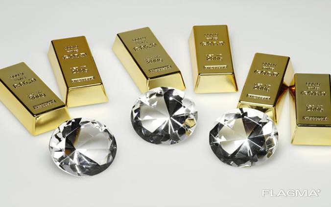Продажа Золото, алмазы.