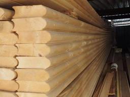 Профилированный брус любого сечения для строительства домов и бань. Сосна, елка, кедр