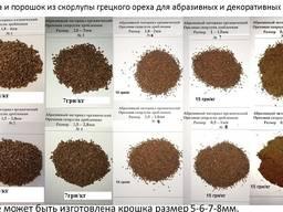 Walnussschalen- Biokraftstoff und Schleifmittel