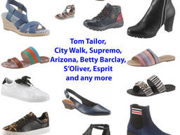 Купить сток в Германии - Женская обувь Tom Tailor, Betty Barclay, S. Oliver, Esprit MIX